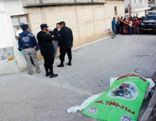 Jorge Emilio Martínez murió baleado en la zona 4 de Tecpán Guatemala, Chimaltenango. (Foto Prensa Libre: José Rosales)