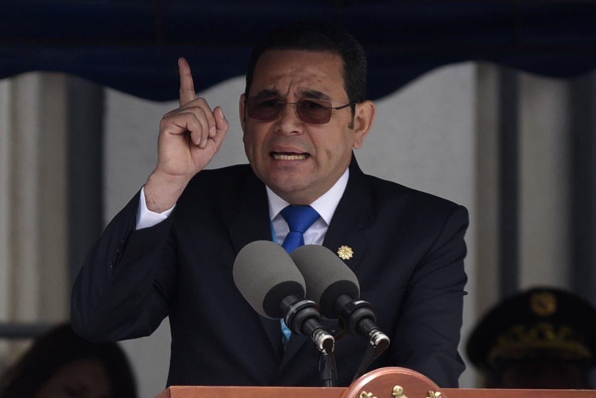 El presidente Jimmy Morales lanzó de nuevo una ofensiva contra el MP y la Cicig. (Foto Prensa Libre: Hemeroteca PL)
