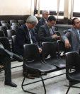 Empresarios condenados en el caso Construcción y Corrupción durante la audiencia de este miércoles. (Foto Prensa Libre: Paulo Raquec).