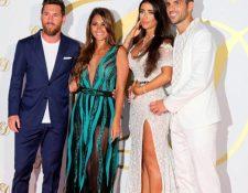 Cesc Fábregas se casó con Daniella Semaan. Entre sus invitados están Lionel Messi y Antonella Roccuzzo. (Foto Prensa Libre: EFE)