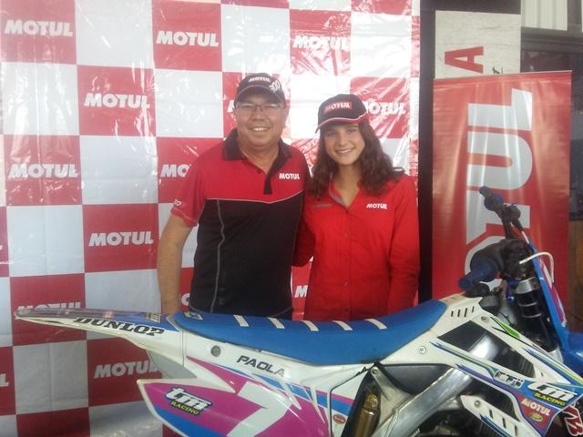 Patrocinio a piloto de motocross