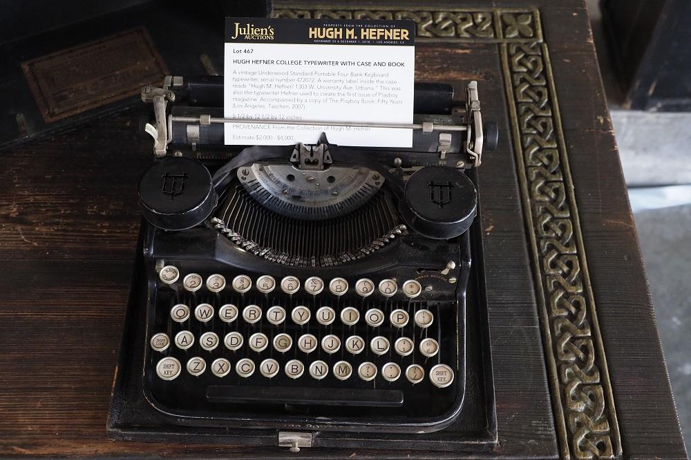 Máquina de escribir Underwood Standard, usada por Hefner en su juventud. (Foto: AFP).