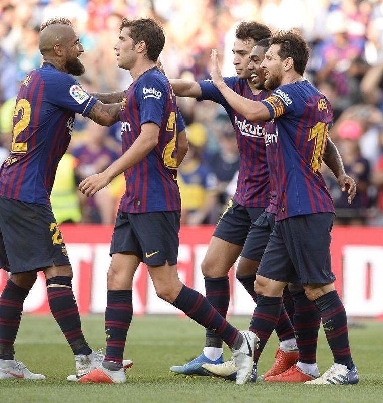 El Barcelona fue totalmente superior en el partido por el Trofeo Joan Gamper 2018 contra el Boca Juniors de Argentina. (Foto Prensa Libre: AFP)
