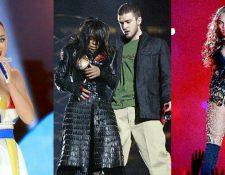 """Katy Perry, Janet Jackson y Justin Timberlake, y Beyoncé han figurado en el """"Show"""". (Foto Prensa Libre: Hemeroteca PL)"""