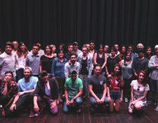 Artistas guatemaltecos se reúnen para apoyar a Álvaro Véliz. (Foto Prensa Libre: Anna Lucía Ibarra)