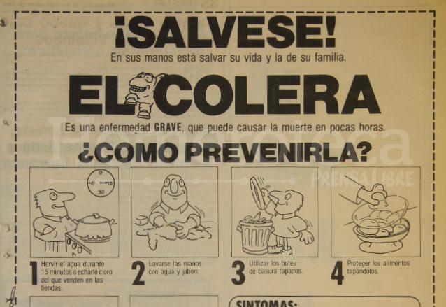 Campaña de prevención del cólera, epidemia que afectaba a los guatemaltecos en 1991. (Foto: Hemeroteca PL)