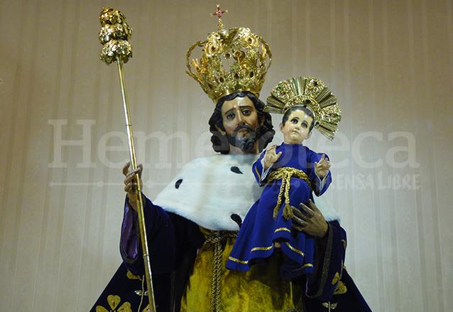 Consagrada y Coronada Imagen del Patriarca Señor San José del Santuario del mismo nombre en la capital. (Foto: Néstor Galicia)