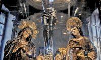 Se cree que la escena del altar mayor de la Basílica de Esquipulas fue tomada de un manual de Alberto Durero.