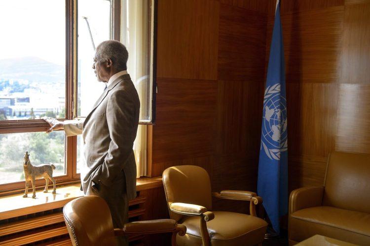 Kofi Annan fotografiado en su oficina el 20 de julio de 2012, en Ginebra, Suiza.