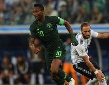 Mikel tuvo una buena participación en el encuentro Argentina - Nigeria. (Foto Prensa Libre: AFP)