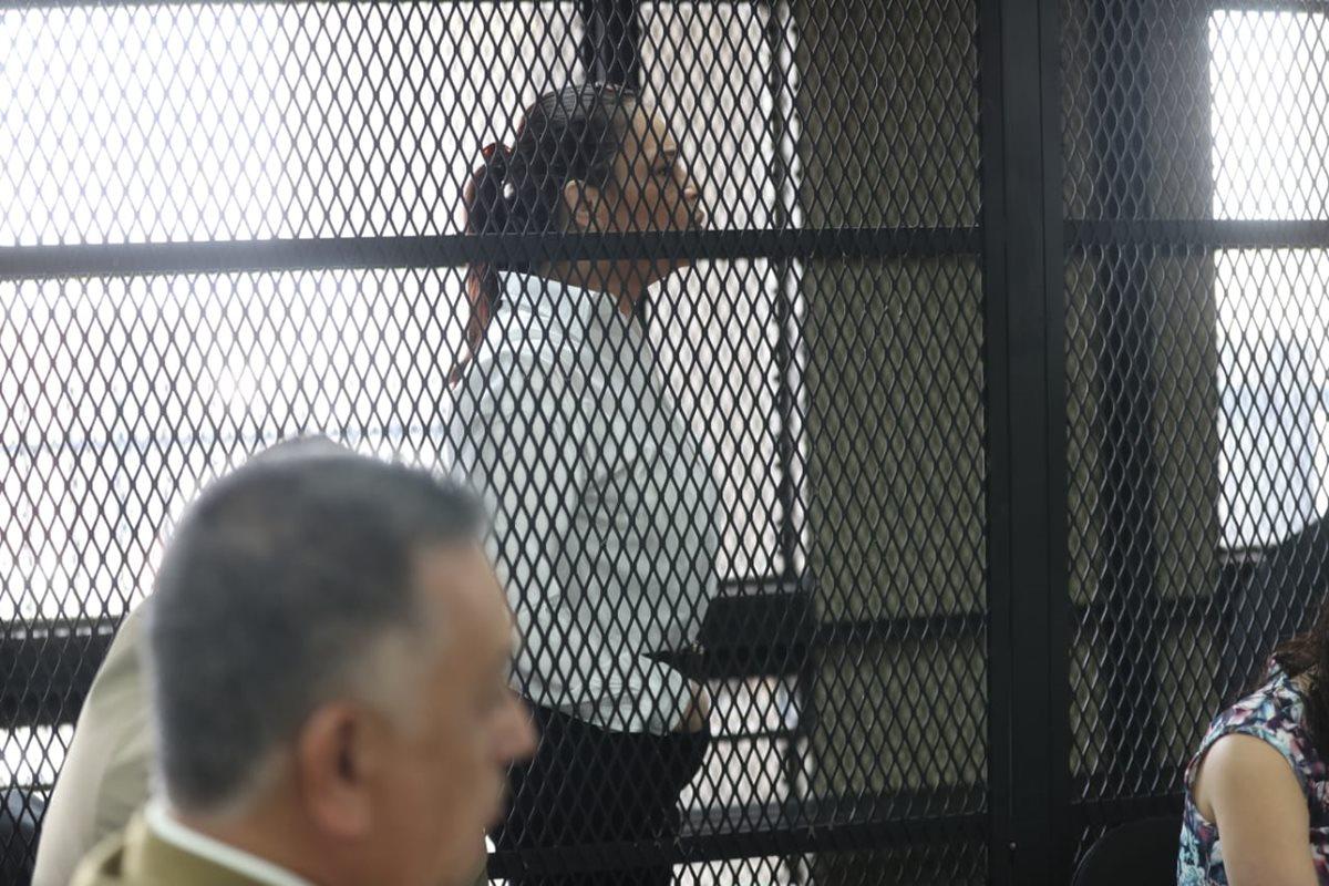 Baldetti reclama al Tribunal un mal procedimiento de las médicas. (Foto Prensa Libre: Érick Ávila)