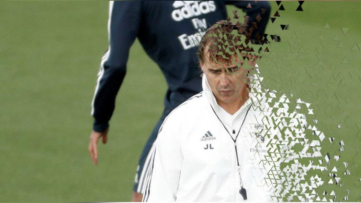 Este meme muestra a Julen Lopetegui desmateraliziandose. Al estilo de la película Avengers Infinity War. (Foto Prensa Libre: Redes)