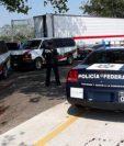 Tráiler del que fueron rescatados los migrantes en México. (Foto Prensa Libre: @RubenFigueroaDH)