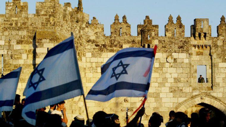 Miles de nacionalistas israelíes conmemoraron el Día de Jerusalén.(AFP).