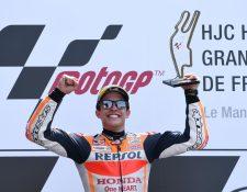 Márquez sigue demostrando su poderío en el motociclismo. (Foto Prensa Libre: AFP)
