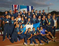 Los seleccionados nacionales dieron su máximo esfuerzo e hicieron ondear la azul y blanco en lo más alto. (Foto Prensa Libre: Cortesía COG)