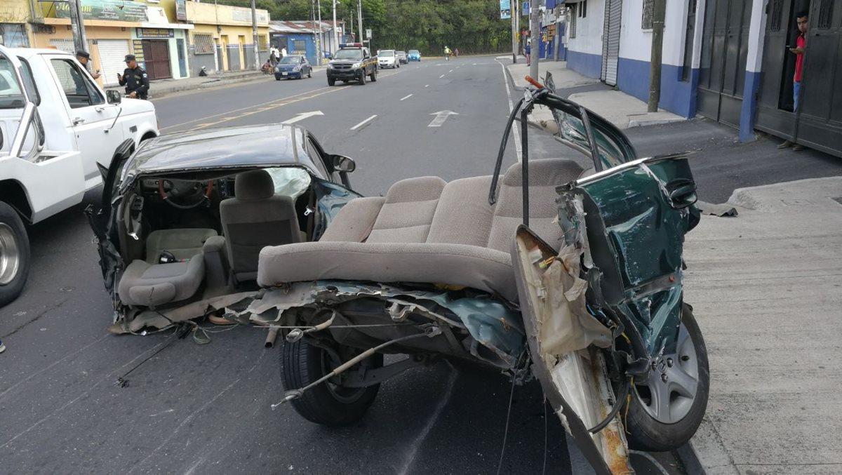 Accidente de tránsito deja dos muertos en la zona 7