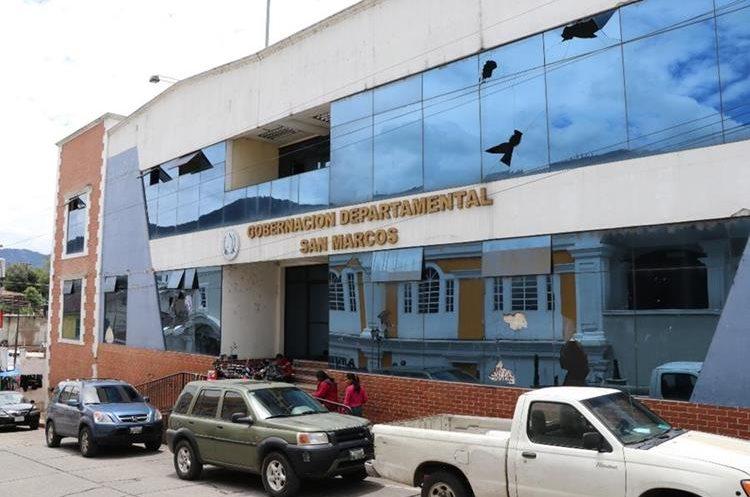 Edificio de la sede de Gobernación Departamental de San Marcos que permanece desocupada. (Foto Prensa Libre: Hemeroteca PL)