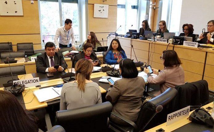 Los ministros de Desarrollo Social y de Trabajo, Alcides René Obregón y Leticia Teleguario, participan en una reunión con el Comité de Derechos Humanos de la ONU, en Ginebra. (Foto Prensa Libre: Hemeroteca PL)
