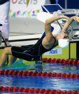Gisela Morales, en la competencia 100 metros dorso en Toronto. (Foto Prensa Libre: Cortesía COG)