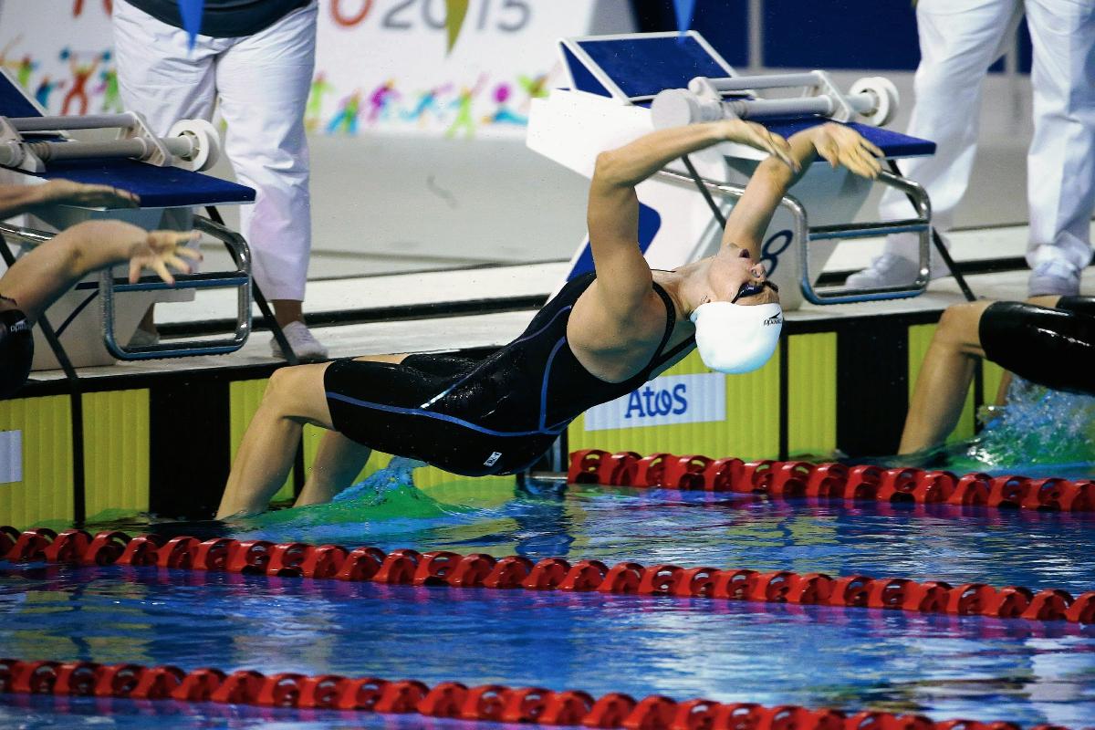Gisela Morales fue séptima en la final 100 metros dorso
