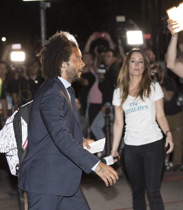 Marcelo, llega al Opera Hotel hoy, jueves 24 de mayo de 2018, en el centro de Kiev (Ucrania). (Foto Prensa Libre: EFE)