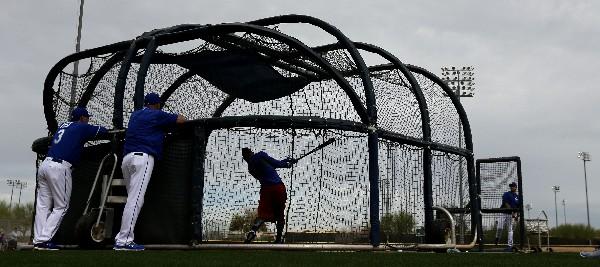 Jarrod Dyson de Kansas City durante el entrenamiento en Arizona. (Foto Prensa Libre: AP)