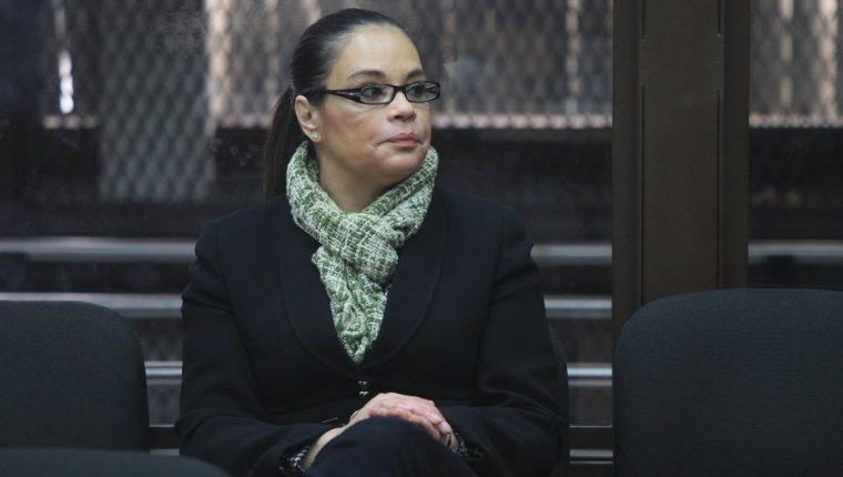 Roxana Baldetti durante una audiencia del caso La Línea. (Foto Prensa Libre: Hemeroteca PL).