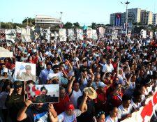 Miles se congregaron en las calles de La Habana, Cuba. (Foto Prensa Libre: EFE)