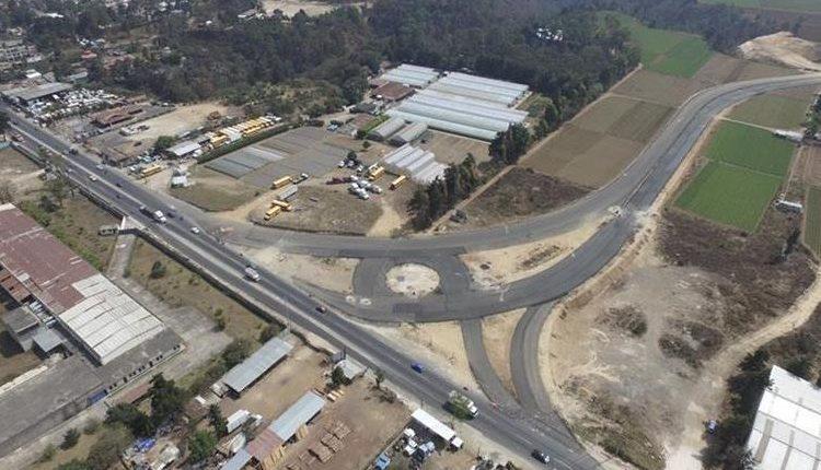 Construcción del libramiento de Chimaltenango. (Foto Prensa Libre: Hemeroteca PL)