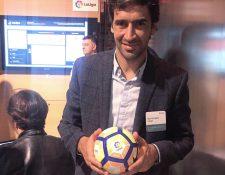 Raúl González durante la presentación del nuevo proyecto de La Liga y Microsoft. (Foto Prensa Libre: Twitter Raúl)