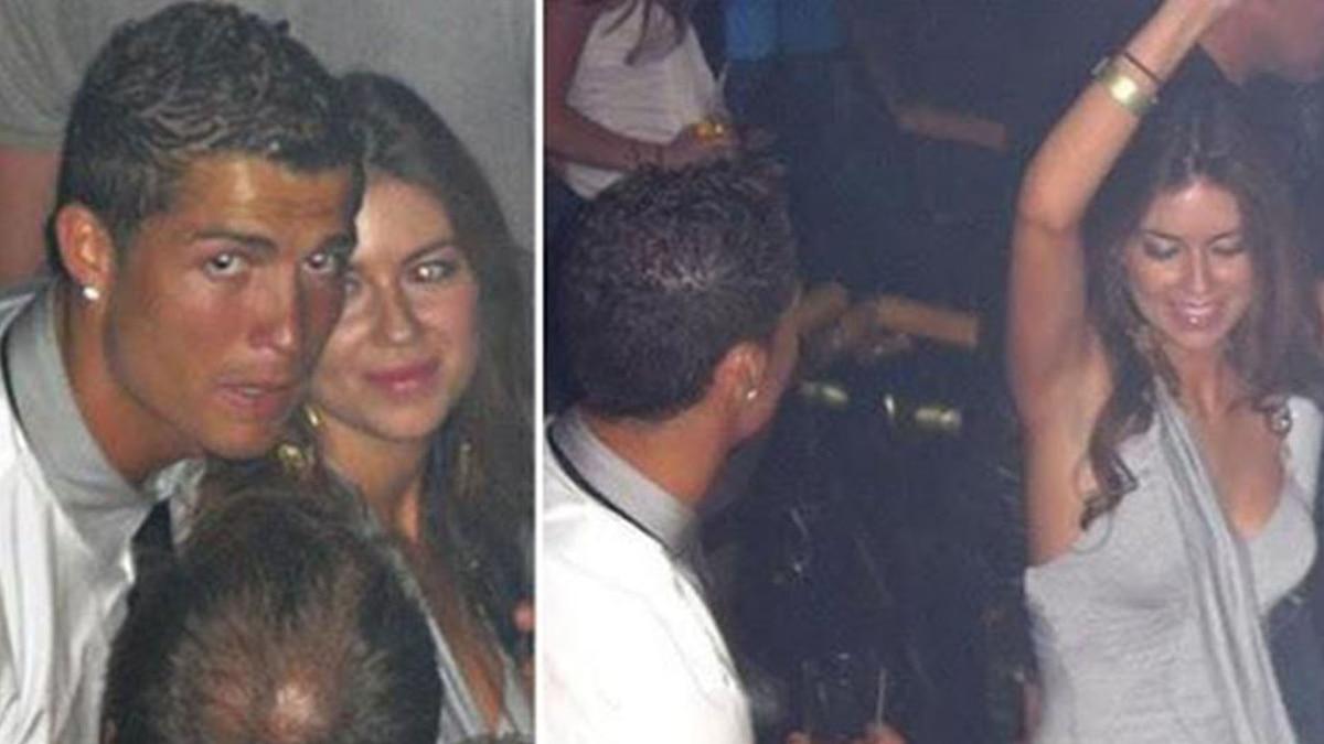 Cristiano Ronaldo y Kathryn Mayorga captados en 2009, en Las Vegas, momentos antes de la supuesta violación. (Foto Prensa Libre: Hemeroteca PL)