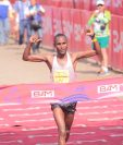 Ondara cumplió con una nueva gran actuación en el Medio Maratón de Cobán. (Foto Prensa Libre: Jesús Cuque)