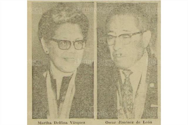 Maestros condecorados con la Orden Francisco Marroquín, el 24 de junio de 1970. (Foto: Hemeroteca PL)