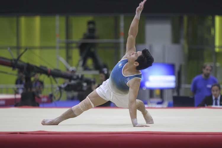 Jorge Vega sumó su segundo oro en piso, en Juegos Centroamericanos y del Caribe (Veracruz 2014 y Barranquilla 2018). (Foto Prensa Libre: Cortesía ACD)