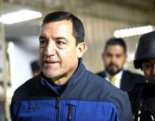 El exministro de Defensa, Williams Mansilla, el día de su captura. (Foto Prensa Libre: archivo)