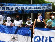 Dirigentes de manifestantes antigubernamentales denuncian el uso excesivo de la fuerza por parte de las fuerzas de seguridad. (AFP).