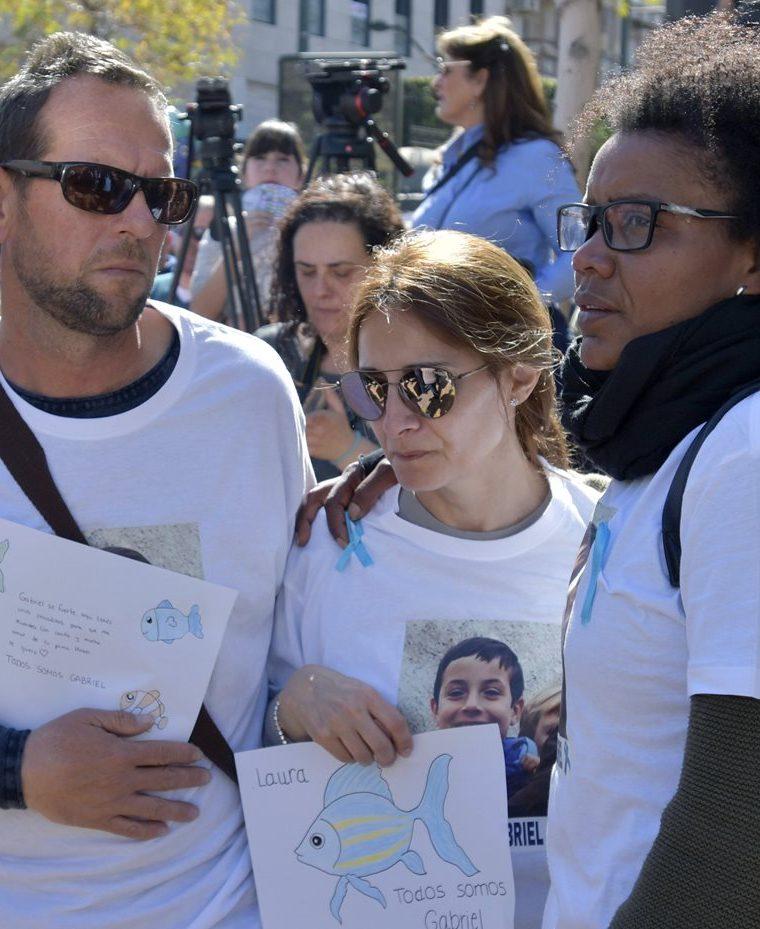 Ana Julia Quezada, quien confesó haber matado al niño, participó de las tareas incansables de búsqueda de la víctima. (Foto Prensa LIbre: EFE)