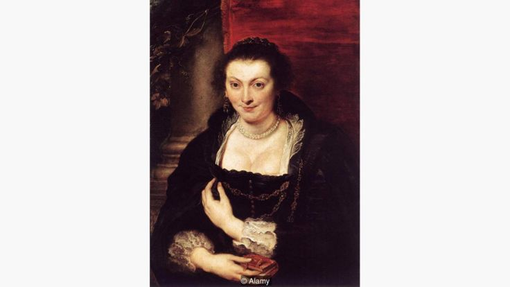 El retrato que hizo Rubens de Isabella Brandt (1610) muestra la versatilidad de la pintura hecha con el rojo cochinilla. ALAMY
