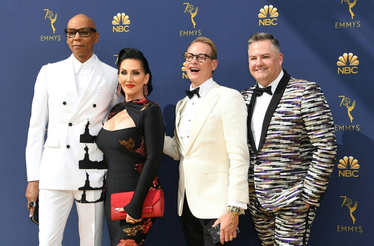 RuPaul Chales, Michelle Visage, Carsson Kresley y Ross Mathews.