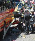 El bombazo dentro del bus ocurrió el domingo 6 de marzo en San José Pinula. (Foto Prensa Libre: Hemeroteca PL)