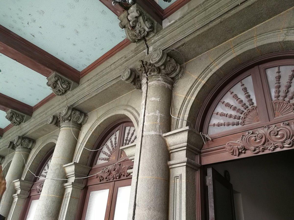 El sismo provocó daños a la infraestructura del Palacio Nacional de la Cultura. (Foto Prensa Libre: Carlos Álvarez)