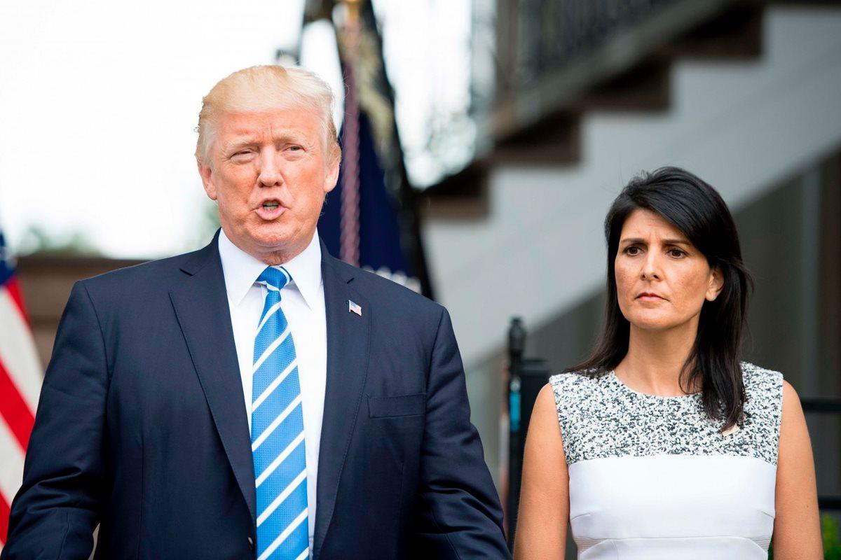 Embajadora en ONU Nikki Haley se pronuncia sobre su supuesto romance con Donald Trump