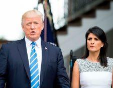 Polémico libro relaciona sentimentalmente a Trump con Haley. (Foto: AFP)