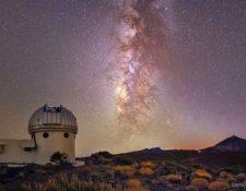 El telescopio de rastreo del Instituto de Astrofísica de Canarias.(EFE).