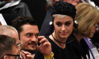 Katy Perry y Orlando Bloom escucharon el discurso que el Papa Francisco dio en Aula Paolo VI en el Vaticano. (Foto Prensa Libre: AFP).
