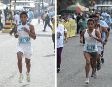 Carlos González y Merlín Chalí ganadores de la XXIX edición de la Carrera de la Luz y el Sonido. (Foto Prensa Libre: Esbin García)