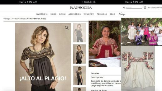 """Una petición en el sitio Change.org buscaba firmas para hacer que Rapsodia retirara la prenda llamada """"Camisa Marion Missy"""". CHANGE.ORG"""