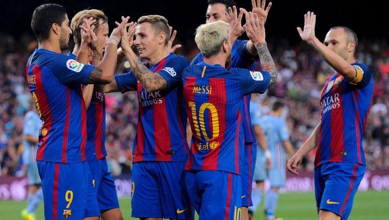 Barcelona tuvo una buena presentación frente a su afición. (Foto Prensa Libre: AP)