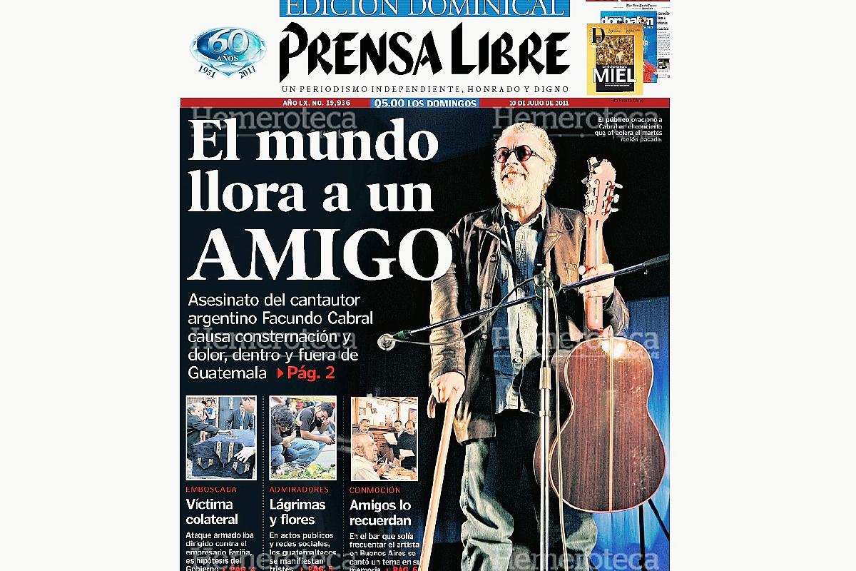 2011: muere el cantautor argentino Facundo Cabral